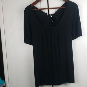 Loft t shirt short sleeve top with bow large